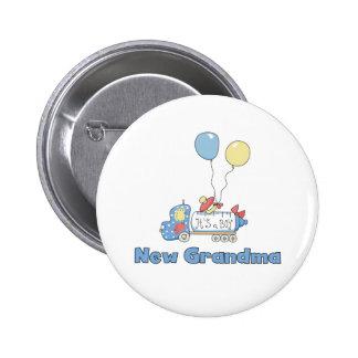 Truck New Grandma Baby Boy Pinback Button