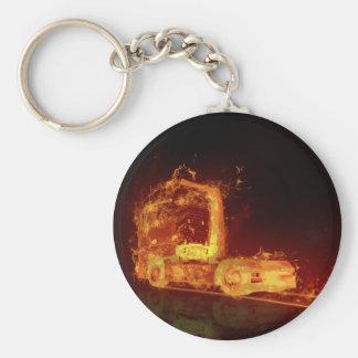 Truck on Fire! - Keychain