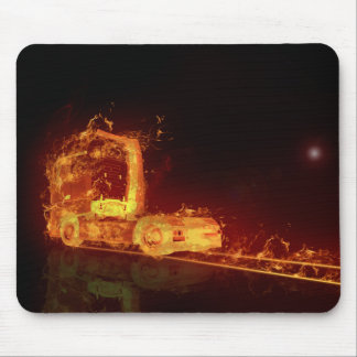 Truck on Fire! - Mousepad