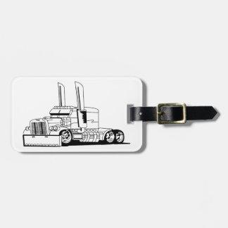 Truck Outline Bag Tag