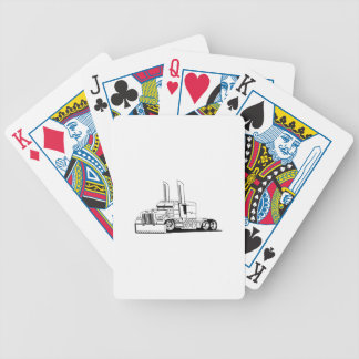 Truck Outline Bicycle Playing Cards