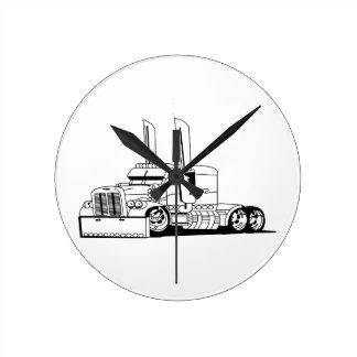 Truck Outline Round Clock