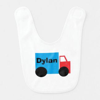 """Truck"" Personalized Baby Bib"