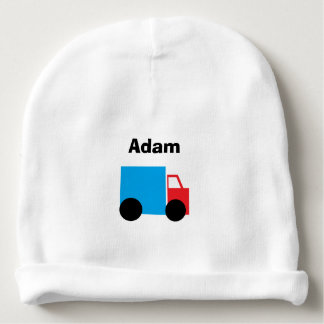 """Truck"" Personalized Baby Hat"