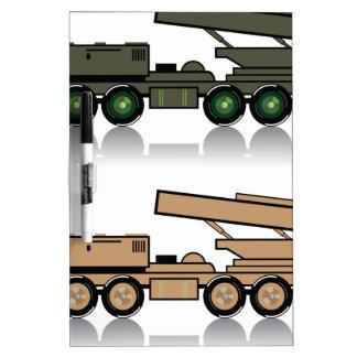 Truck rocket launcher Dry-Erase board