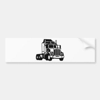 TRUCK semi trailer trucker american Bumper Stickers