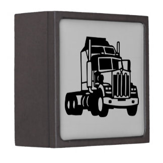 TRUCK semi trailer trucker  american Jewelry Box