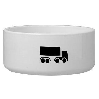 Truck Silhouette Pet Bowls