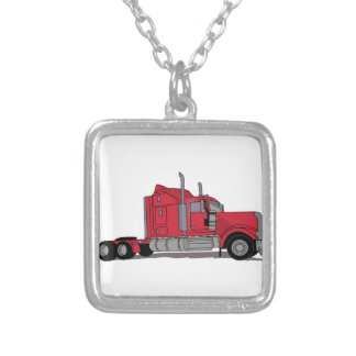 Truck Silver Plated Necklace