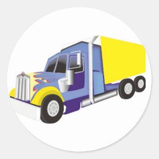 Truck Round Stickers