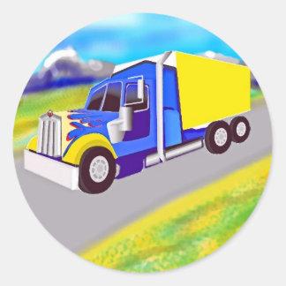 Truck Round Sticker