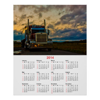 Truck Stop Sky 2014 calendar Poster