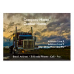 Truck Stop Sky card template Large Business Cards (Pack Of 100)