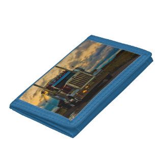 Truck Stop Sky Trifold Wallets