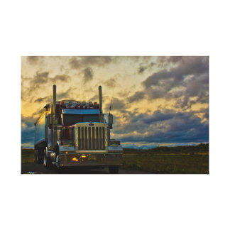 Truck Stop Sky wrapped canvas