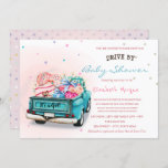 Truck Sweets Stars Drive By Baby Shower Invitation