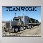 Truck Teamwork Posters