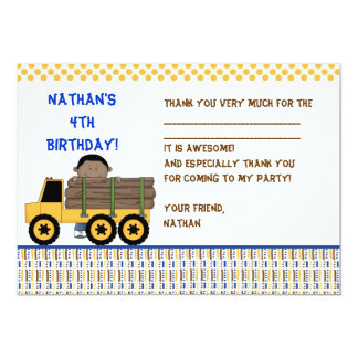 Truck Thank you note - Log Carrier Card