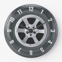 Truck Tire Lorry Tyre Truckers Wall Clock