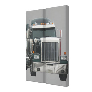 Truck tractor canvas print