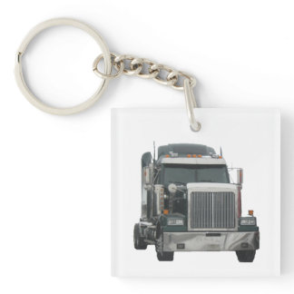 Truck Tractor Key Chain