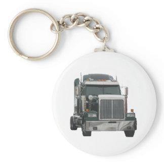 Truck tractor keychain