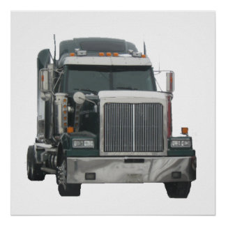 Truck tractor poster