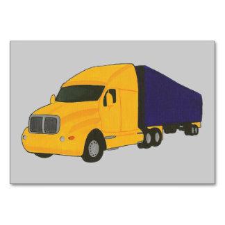 Truck Tractor Trailer Custom Flashcards Table Card