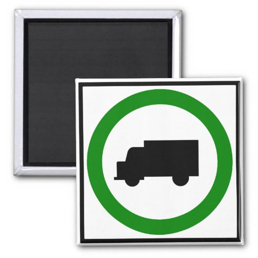 Truck Traffic Permitted  Highway Sign Refrigerator Magnets