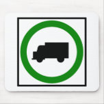 Truck Traffic Permitted  Highway Sign Mouse Mat