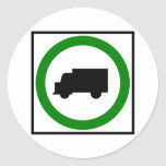 Truck Traffic Permitted  Highway Sign Round Stickers