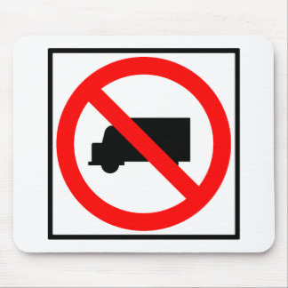 Truck Traffic Prohibited Highway Sign Mouse Pad