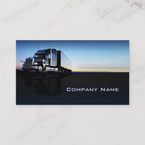 Truck _ transportation  logistics business card