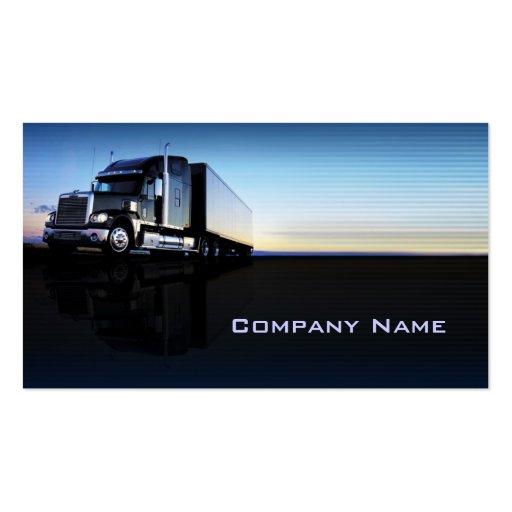 Truck - transportation & logistics business card