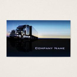 Trucking business cards templates zazzle truck transportation logistics business card colourmoves