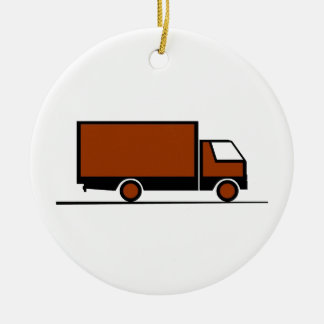 Truck - Truck (04) Double-Sided Ceramic Round Christmas Ornament
