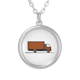 Truck - Truck (04) Silver Plated Necklace
