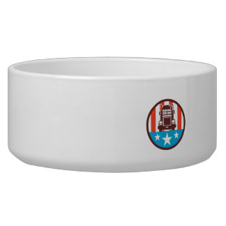 Truck USA Flag Circle Retro Bowl