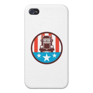 Truck USA Flag Circle Retro iPhone 4 Cases