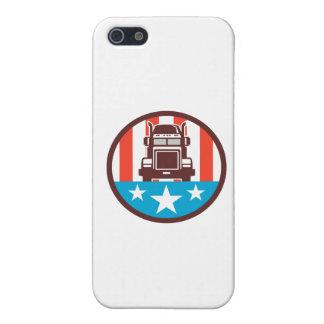 Truck USA Flag Circle Retro iPhone SE/5/5s Cover