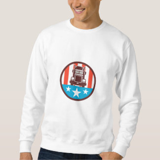 Truck USA Flag Circle Retro Sweatshirt