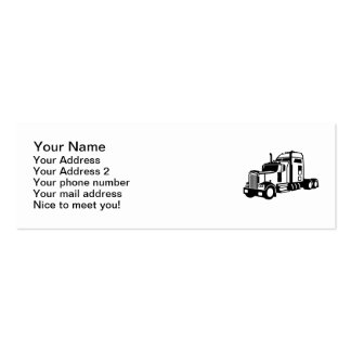 Truck vehicle Double-Sided mini business cards (Pack of 20)