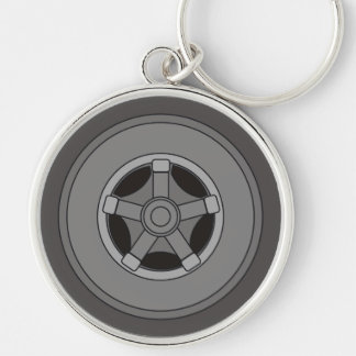 Truck Wheel And Tire Keychain