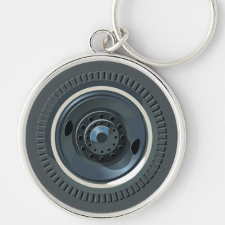 Truck Wheel And Tires Keychains