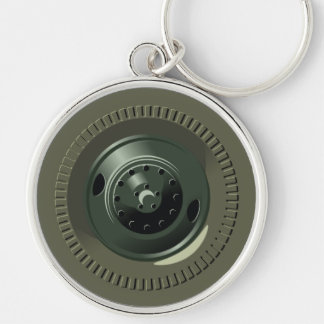 Truck Wheels And Tires Keychain