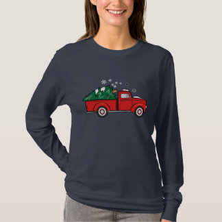 Truck with Christmas Tree T-Shirt