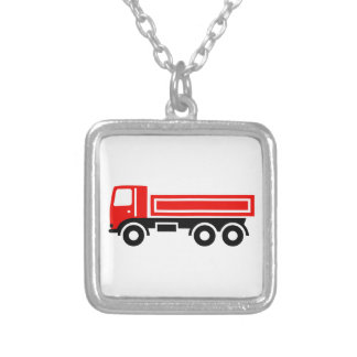 Truck with dump truck necklaces