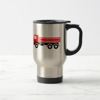Truck with dump truck travel mug