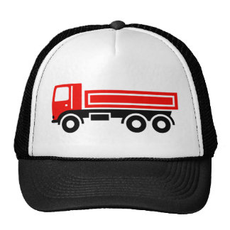 Truck with dump truck trucker hat