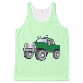 Truck with Light Bar All-Over Print Tank Top